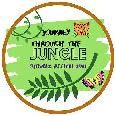 Journey through the JUNGLE Recital Logo.