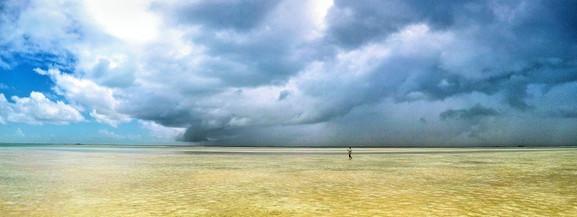 Line squall in Kiribas