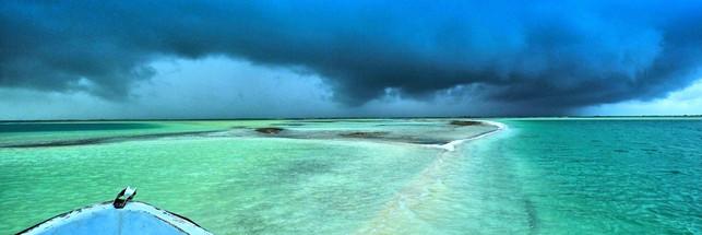 Storm over Kiribati