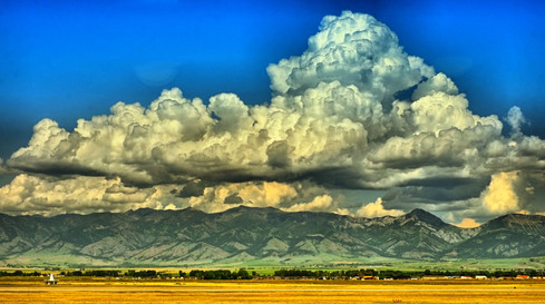 Thunderheads over the Rockies