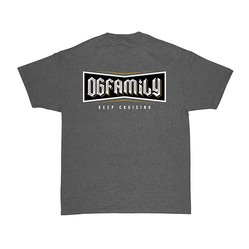 OG FAMILY: KEEP CRUISING - CHARCOAL T-SHIRTCOLOR