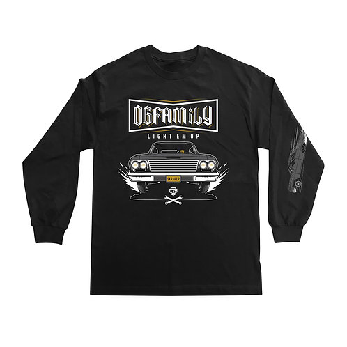 OG FAMILY: LIGHT EM UP - BLACK LONGSLEEVE