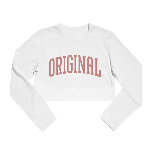 OG FAMILY: ATHLETE - WOMENS  WHITE CROPTOP