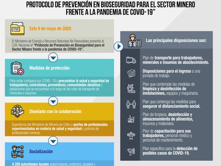 El Protocolo de Prevención en Bioseguridad para el sector Minero fue presentado al COE Nacional
