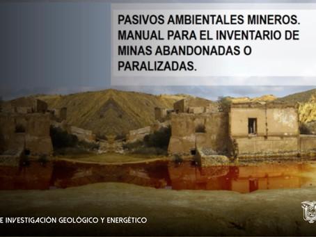 """IIGE participa en la publicación del """"Manual para el Inventario de Minas Abandonadas o Paralizadas"""""""