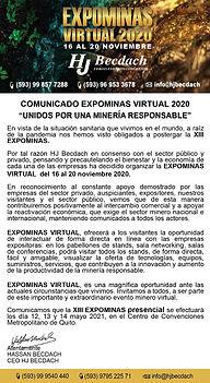 PETROENERGIA COMUNICADO LANZAMIENTO EXPO