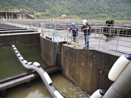 CELEC EP instala sistema de dragado de sedimentos en desarenadores de la central Coca Codo Sinclair