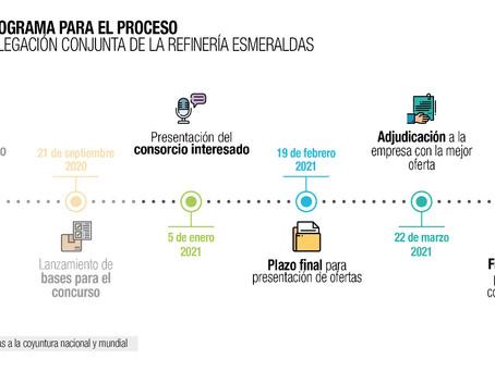 Consorcio conformado por cuatro empresas es el interesado en la  Refinería Estatal Esmeraldas