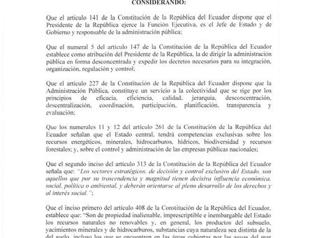 Decreto Ejecutivo 1221