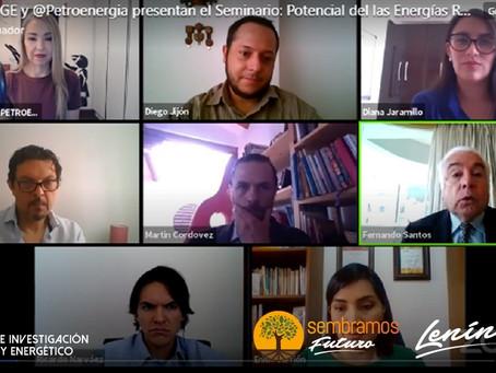Las perspectivas del potencial de las Energías Renovables fueron revisadas en seminario virtual