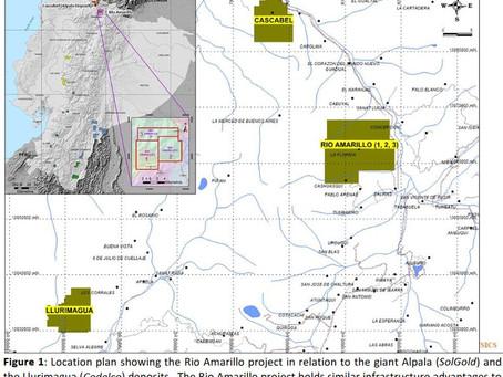 SolGold a la espera de permisos para perforar en Río Amarillo