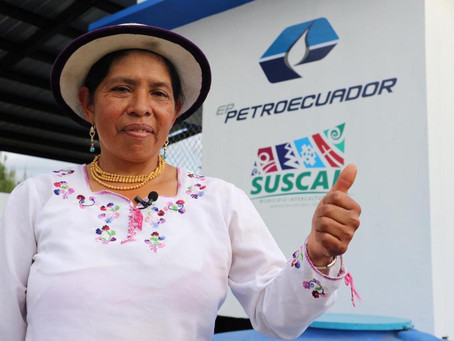 Con apoyo y financiamiento de Petroecuador comunidad de Jalupata, Cañar, tiene nuevo sistema de agua