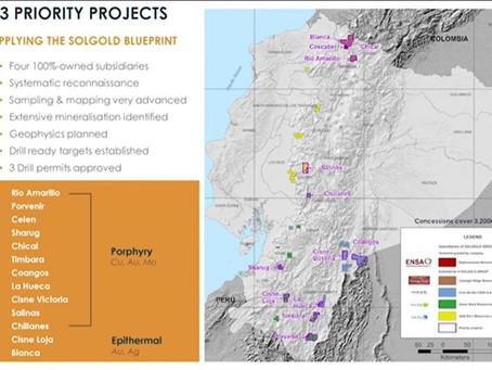 SolGold reanuda las actividades de exploración regional