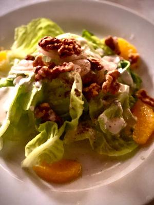 Walnut salad at Clay Hill Farm
