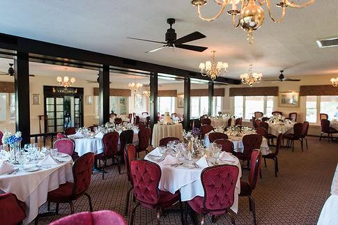 Reception at the Main Dining room at Clay Hill Farm