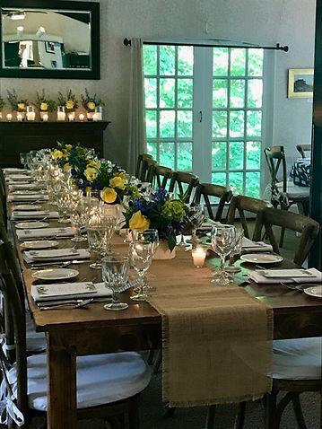 Small wedding reception table