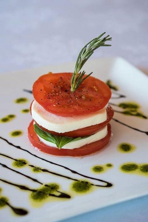 Fresh tomato and mozzarella