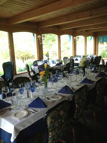 Rehersal dinner table setting at Clay Hill Farm