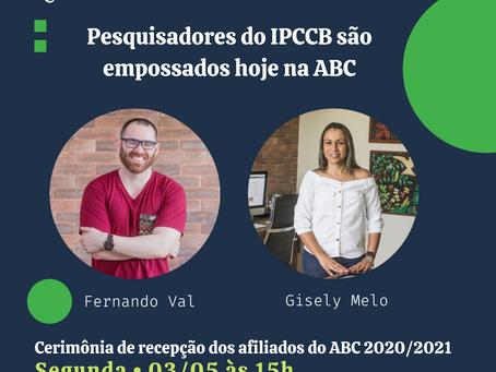 Pesquisadores do IPCCB são empossados hoje como membros afiliados da ABC