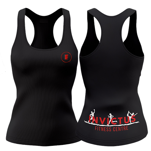 Ladies Racer Back Vest Black