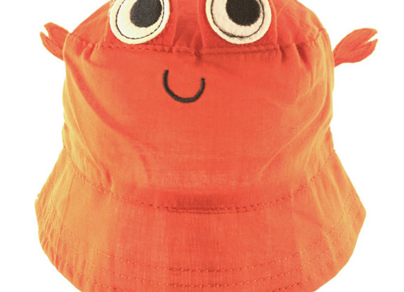 YB_113O_SH Orange Crab Summer Bucket Hat