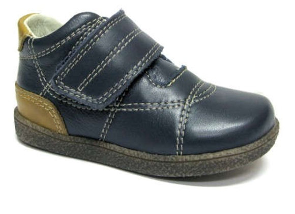RBB13_1527_0112_D Navy Leather Shoes