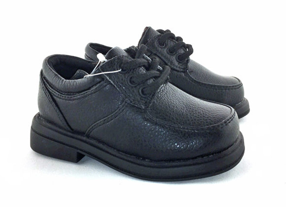 MB102B_D Black Leather Shoes