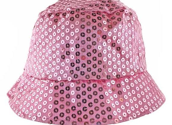 YG_185P_SH Metallic Pink Bucket Hat