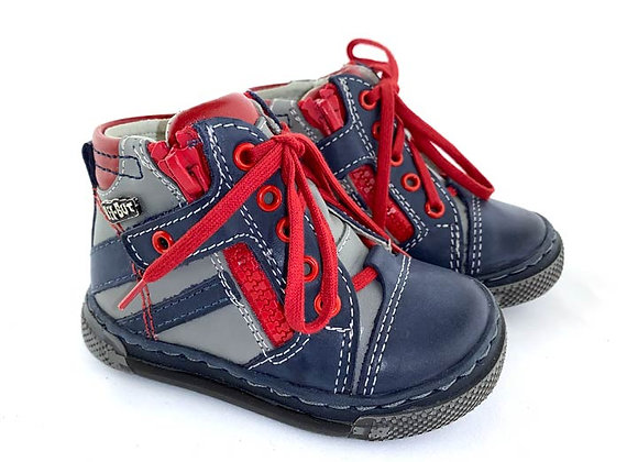 RBB13_1475J_HT Navy/Gray Leather High Tops
