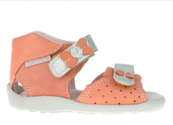 MG309_310C_OS Coral Leather Sandals