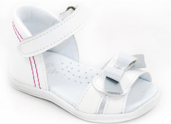 GG016_03_OS White Leather Sandals