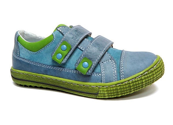 RBB33_4299_0334_S Jeans-Green Leather Sneakers