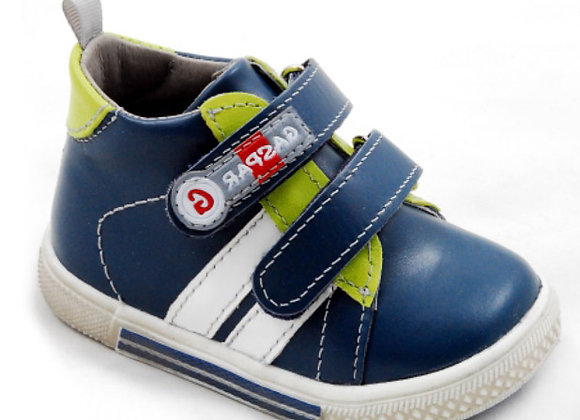 GB102_11_HT Navy Leather High Tops