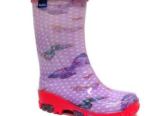 RBG23_492_0599_R Purple Butterflies Rain Boots