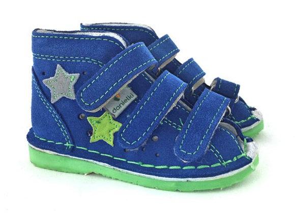 DBS_TA125B Blue Suede Sandals