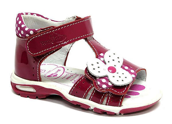 RBG11_1406_0045_OS Glossy Magenta Leather Sandals