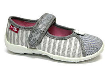RBG33_424_P1040 Sparkly Striped Gray Canvas Shoes