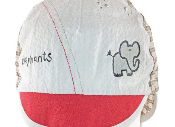JB_16007R_SH White-Red-Beige Summer Hat