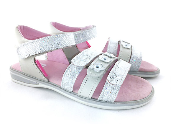 MG1347W_OS Ivory Silver Leather Sandals