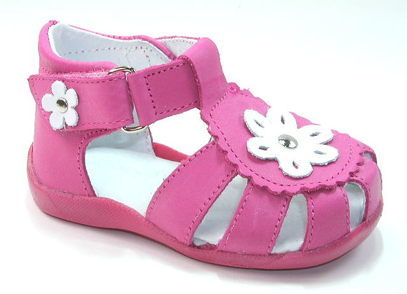 KG3139_CS Magenta Leather Sandals