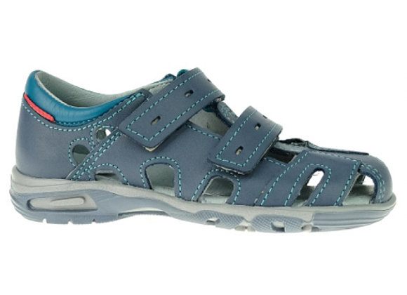 MB170J_CS Jeans Turquoise Leather Sandals