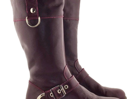 RBG32_459_WB Plum Leather Boots