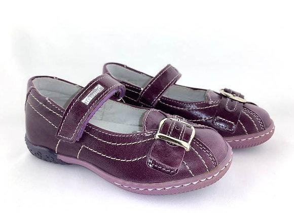 RBG23_3042_D Purple Leather Mary Jane