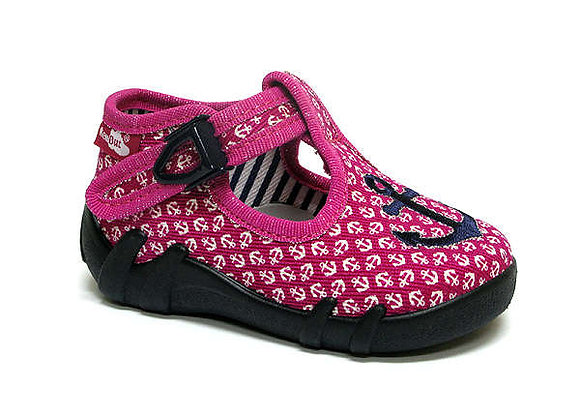 RBG13_102_0809 Hot Pink Anchor Canvas Shoes