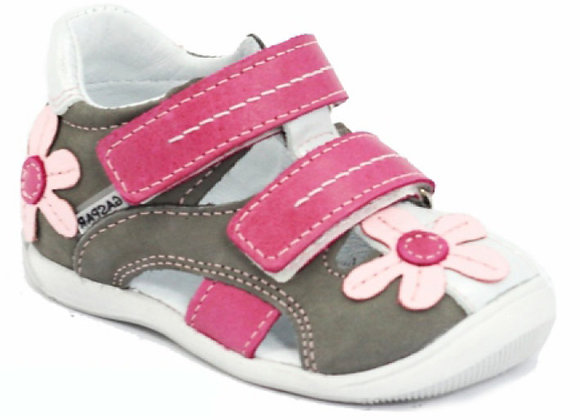 GG060_21_CS Gray Pink Leather Shoes