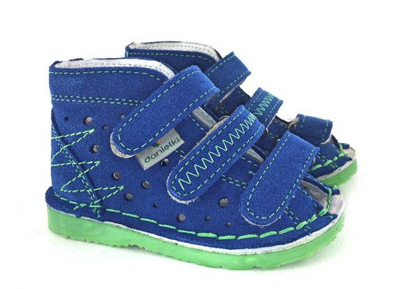 DBS_TA105 Blue Suede Sandals