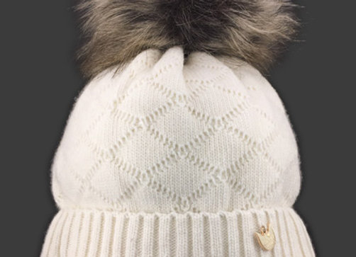 JZB022_J Ivory Winter Hat