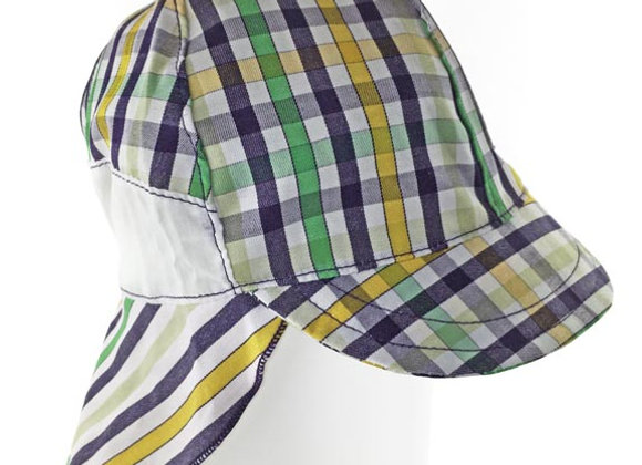 MB_FALY_SH Multi-Color Checkered Sun Hat