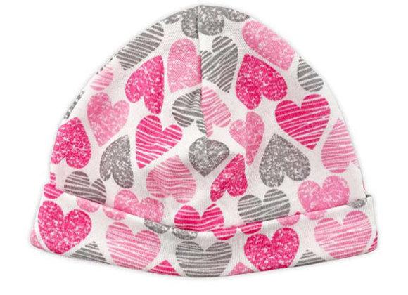 Pink Hearts Light Cotton Hat