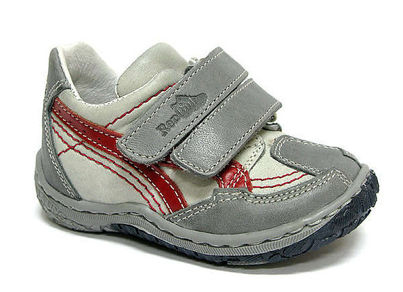 RBB13-268-0291_S Gray Leather Sneakers